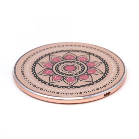 Wireless Charging Pad—(Rose Gold) with Floral Design
