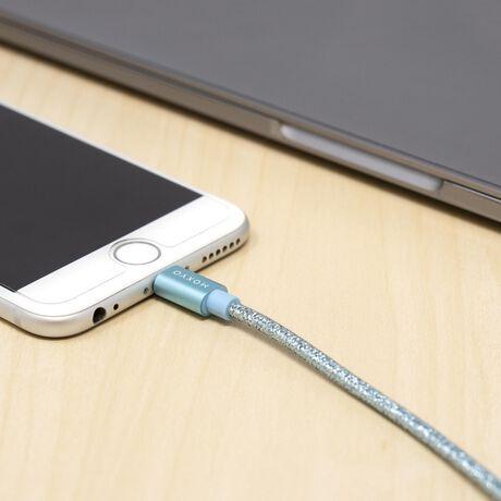 Metallic Nylon Braided Lightning Cable (Blue)