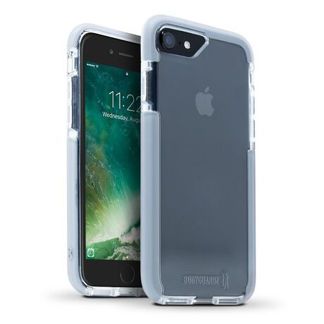 BodyGuardz Ace Pro Case featuring Unequal (Clear/Gray) for Apple iPhone SE (2nd Gen) / iPhone 8 / iPhone 7, , large