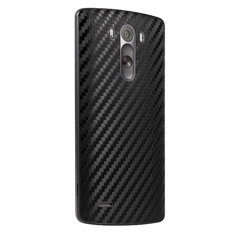Carbon Fiber armor Back Skin (Black) for LG G3, , large