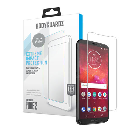 Motorola Moto Z3 Play BodyGuardz® Pure® 2 Premium Glass Screen Protector, , large
