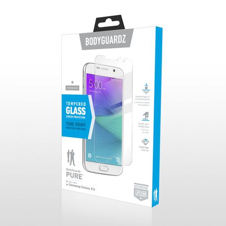 Samsung Galaxy S6 BodyGuardz Pure® Premium Glass Screen Protector, , large