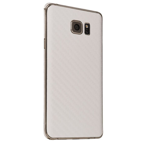 Carbon Fiber armor Back Skin (White) for Samsung Galaxy Note 5, , large