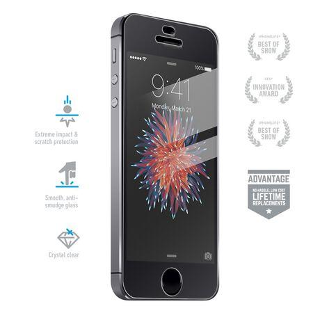 huge discount f0bf7 636a9 Apple iPhone SE BodyGuardz Pure® Premium Glass Screen Protector