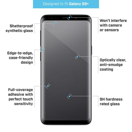 Samsung Galaxy S9+ PRTX™ Shatterproof Synthetic Glass Screen Protector, , large
