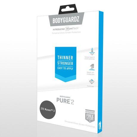 ZTE Blade Spark BodyGuardz Pure® 2 Premium Glass Screen Protector, , large