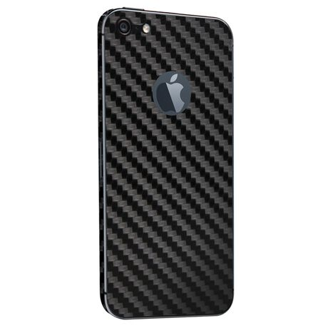 Carbon Fiber armor Back Skin (Black) for Apple iPhone 5, , large