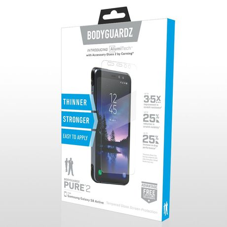 Samsung Galaxy S8 Active BodyGuardz Pure® 2 Premium Glass Screen Protector, , large