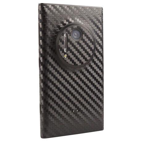 Carbon Fiber armor Back Skin (White) for Nokia Lumia 1020, , large