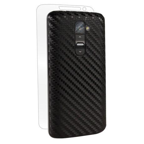 Carbon Fiber armor Back Skin (Black) for LG Optimus G2 (AT&T / T-Mobile / Sprint), , large