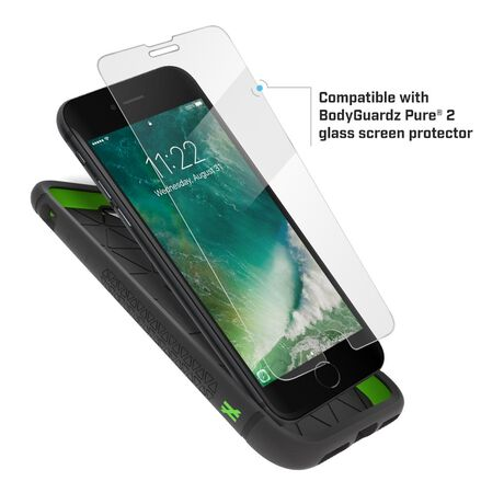 BodyGuardz Shock Case with Unequal Technology (Black) for Apple iPhone SE (2nd Gen) / iPhone 8 / iPhone 7, , large