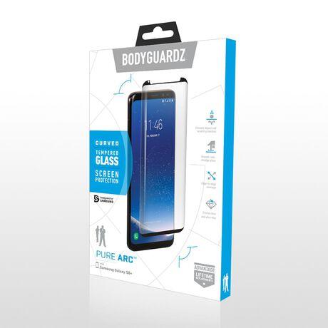Samsung Galaxy S8+ BodyGuardz Pure Arc™  Premium Glass Screen Protector, , large