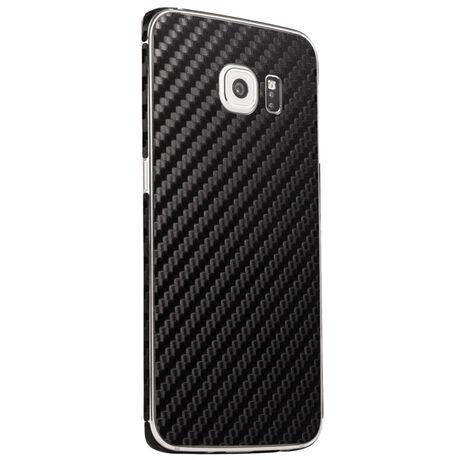 Carbon Fiber armor Back Skin (Black) for Samsung Galaxy S6 Edge, , large