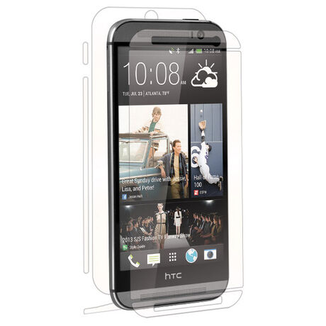 HTC One (M8) Clear Skins Full Body Protection, , large