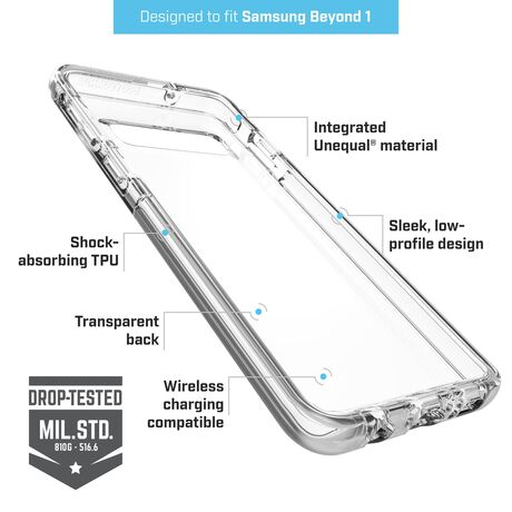 BodyGuardz Ace Pro Case featuring Unequal (Clear/Clear) for Samsung Galaxy S10, , large