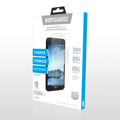 LG Phoenix 3 BodyGuardz Pure® 2 Premium Glass Screen Protector, , large