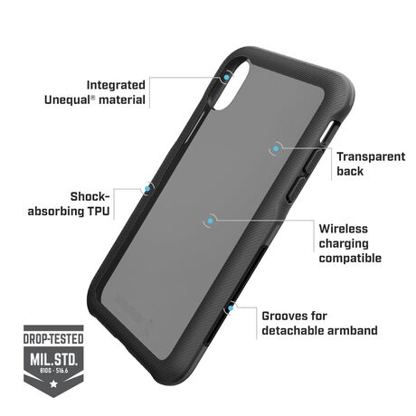 BodyGuardz Trainr Pro Case with Unequal Technology (Black/Gray) for Apple iPhone Xs Max, , large
