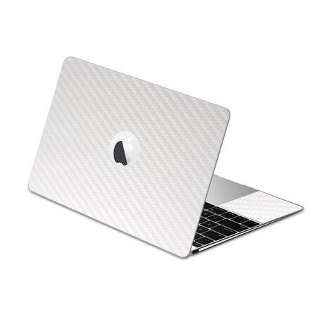 Carbon Fiber armor Full Body (White) for Apple MacBook (2015), , large