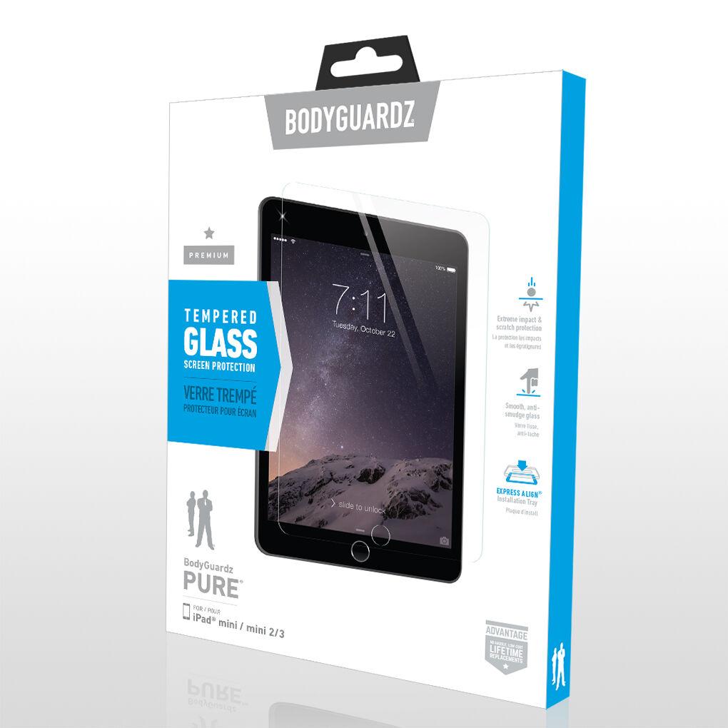Mini 2//3 Bodyguardz Screenguardz Tempered Glass Screen Protector Ipad Mini