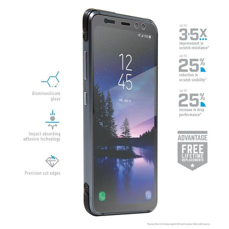 Samsung Galaxy S8 Active BodyGuardz Pure® 2 Premium Glass Screen Protector, , large