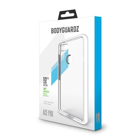 BodyGuardz Ace Pro Case featuring Unequal (Clear/White) for Google Pixel 3 XL, , large