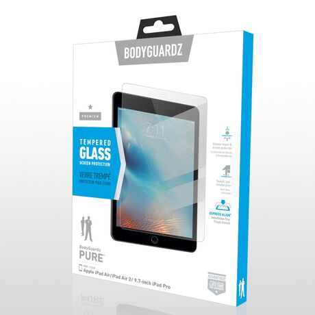 "BodyGuardz Pure™ Premium Glass Screen Protector for Apple iPad Air / Air 2 / Pro 9.7"", , large"