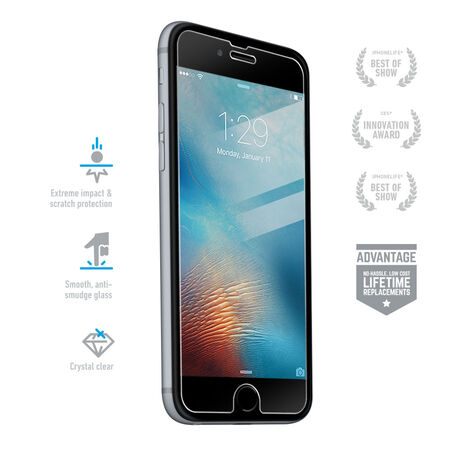 Apple iPhone 6s BodyGuardz Pure® Premium Glass Screen Protector, , large