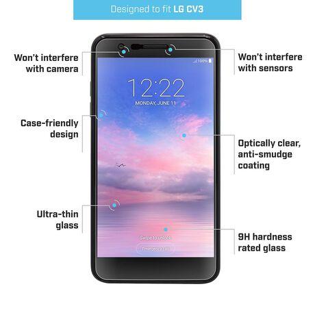 LG Harmony 2 / Premier Pro LTE / K30 / Phoenix Plus BodyGuardz Pure® 2 Premium Glass Screen Protector, , large