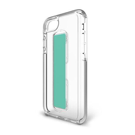 BodyGuardz SlideVue Case featuring Unequal (Clear/Mint) for Apple iPhone SE (2nd Gen) / iPhone 8 / iPhone 7 / iPhone 6s, , large