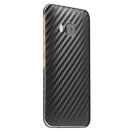 Carbon Fiber armor Back Skin (Black) for HTC One (M9), , large