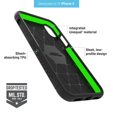 BodyGuardz Shock Case with Unequal Technology (Black) for Apple iPhone X, , large