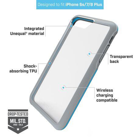 BodyGuardz Trainr Case with Unequal Technology (Gray/Mint) for Apple iPhone 6/6s/7/8 Plus, , large