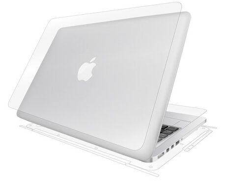 "Apple MacBook Pro 13"" w/ Retina Display (2012 til 2015) Clear Skins Full Body Protection, , large"