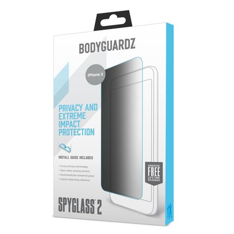 outlet store ab645 842b3 Apple iPhone X SpyGlass 2 (2-way privacy) Tempered Glass Screen Protector