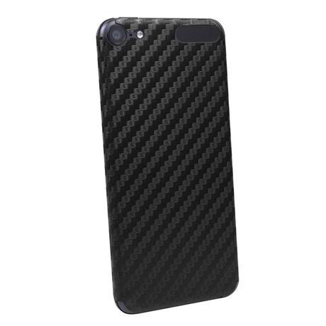 Carbon Fiber armor Back Skin (Black) for Apple iPod Touch 6th Gen, , large