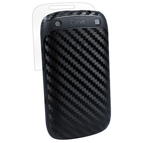 Carbon Fiber armor Full Body (Black) for BlackBerry Curve 9310, , large