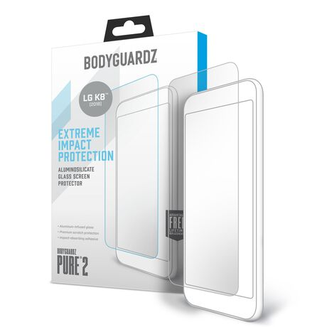 BodyGuardz Pure 2 Glass for LG K8+ (2018) / ZONE 4 / Fortune 2 / Risio 3 / Tribute Dynasty / Aristo 2, , large