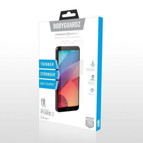 LG G6 BodyGuardz Pure® 2 Premium Glass Screen Protector, , large