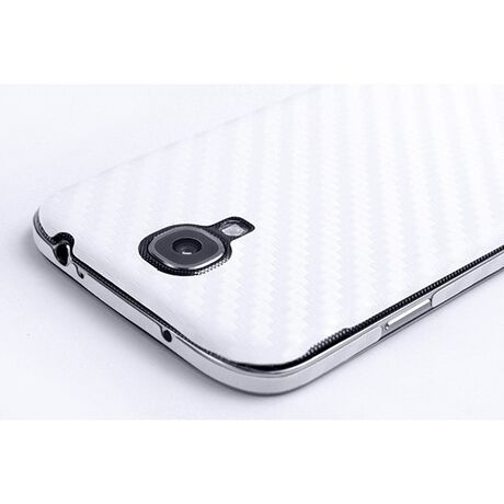 Carbon Fiber armor Back Skin (White) for Samsung Galaxy S4 (IV), , large