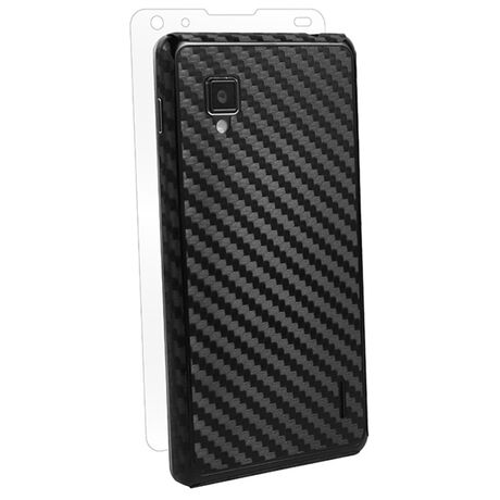 Carbon Fiber armor Back Skin (Black) for LG Optimus G (Sprint), , large