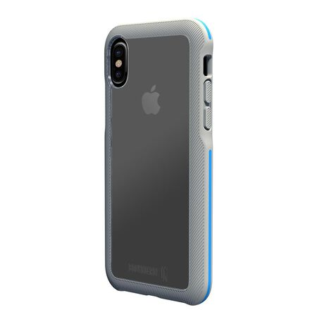 BodyGuardz Trainr Case with Unequal Technology (Gray/Blue) for Apple iPhone X, , large