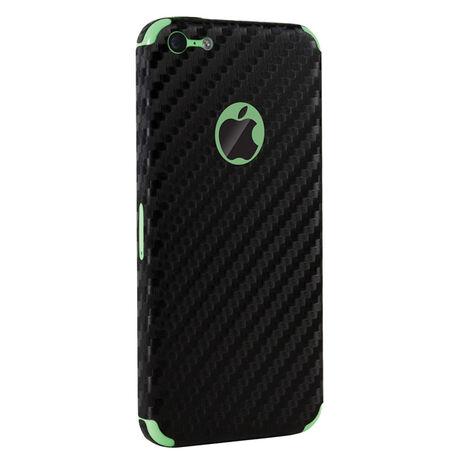 Carbon Fiber armor Back Skin (Black) for Apple iPhone 5C, , large