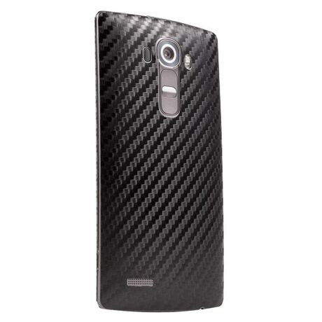 Carbon Fiber armor Back Skin (Black) for LG G4, , large