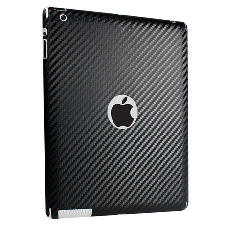 Carbon Fiber armor Back Skin (black) for Apple iPad 4, , large