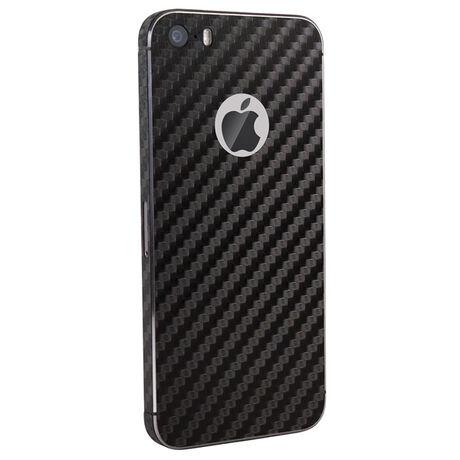 Carbon Fiber armor Back Skin (Black) for Apple iPhone 5s/SE, , large