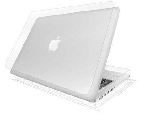 """UltraTough Clear Full Body (Wet Apply) for Apple MacBook Pro 13"""" w/ Retina Display (2012 til 2015), , large"""