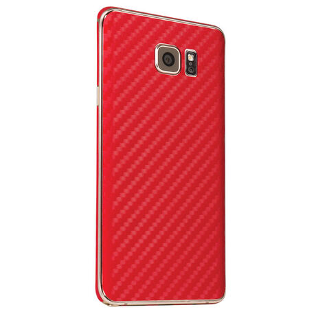 Carbon Fiber armor Back Skin (Red) for Samsung Galaxy Note 5, , large