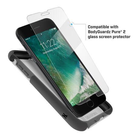 BodyGuardz Ace Pro Case featuring Unequal (Smoke/Black) for Apple iPhone SE (2nd Gen) / iPhone 8 / iPhone 7, , large