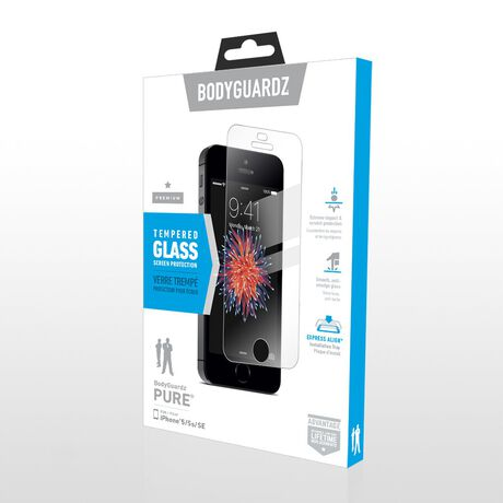 Apple iPhone 5/5s BodyGuardz Pure® Premium Glass Screen Protector, , large