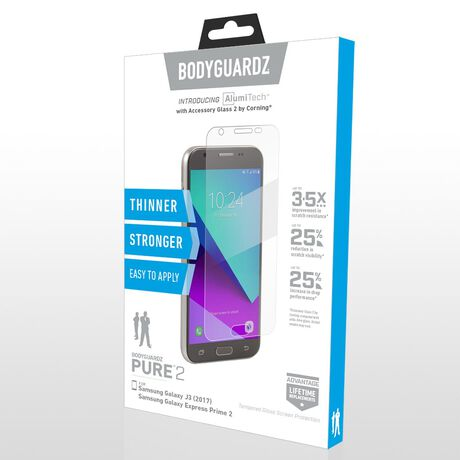 Samsung Galaxy J3 (2017) / Galaxy Express Prime 2 BodyGuardz Pure® 2 Premium Glass Screen Protector, , large